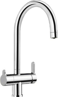 Кухонный однорычажный смеситель с одним высоким изливом для питьевой и обычной воды, хром Blanco TRIMA 520840