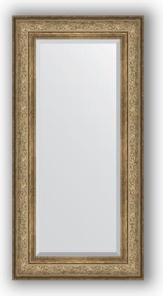 Зеркало с фацетом в багетной раме 60x120см виньетка античная бронза 109мм Evoform BY 3503