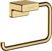 Бумагодержатель Hansgrohe AddStoris, без крышки, полированное золото 41771990