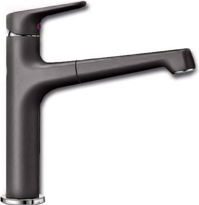 Смеситель кухонный однорычажный с высоким выдвижным изливом, тёмная скала Blanco FELISA-S 520346