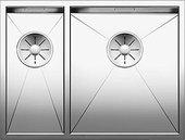 Кухонная мойка Blanco Zerox 340/180-IF, чаша справа, отводная арматура, полированная сталь 521612