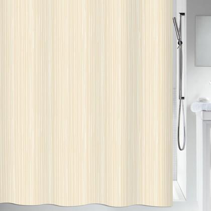 Штора для ванны 180x200см текстильная бежевая Spirella RAYA 1014417