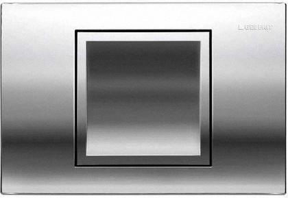 Кнопка одинарного смыва для инсталляции, хром матовый Geberit Delta40 115.130.46.1