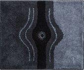 Коврик для ванной 50x60см антрацит с кристаллами Сваровски Grund Crystal b2440-604068