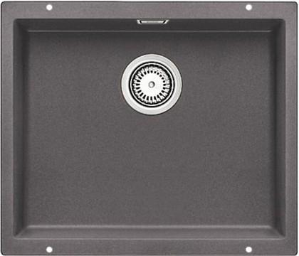 Кухонная мойка без крыла, с клапаном-автоматом, гранит, тёмная скала Blanco Subline 500-U 518965