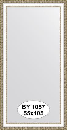 Зеркало 55x105см в багетной раме бусы платиновые Evoform BY 1057