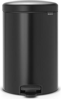 Мусорный бак с педалью 20л, чёрный матовый Brabantia Newicon 114106