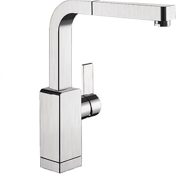 Смеситель кухонный однорычажный с выдвижным изливом, нержавеющая сталь зеркальной полировки Blanco LEVOS-S 514918