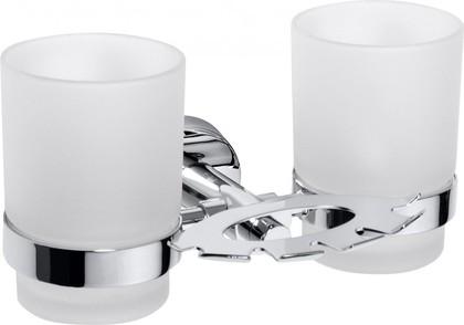 Стаканчики настенные с держателем зубной пасты и щёток Bemeta Omega 104110042