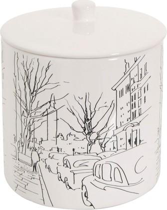 Диспенсер для ватных шариков или дисков керамический белый Spirella Paris 4007030