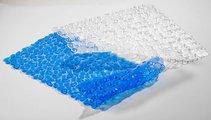 Коврик в ванну 75х36см, прозрачный Spirella Riverstone 1007072