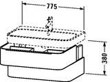 Тумба подвесная под умывальник, с двумя ящиками, 380x775мм, белый глянец Duravit HAPPY D.2 H2 6365 22