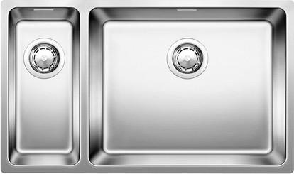 Кухонная мойка без крыла, основная чаша справа, с клапаном-автоматом, нержавеющая сталь зеркальной полировки Blanco Andano 500/180-U 520827