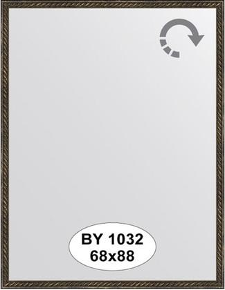 Зеркало 68x88см в багетной раме витая бронза Evoform BY 1032