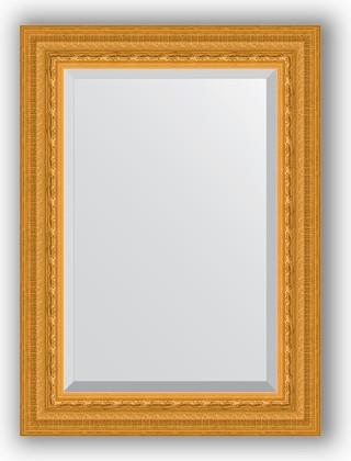 Зеркало 55x75см с фацетом 30мм в багетной раме сусальное золото Evoform BY 1224