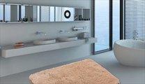Коврик для ванной 60x100см бежевый Grund MELO 2559.16.4136