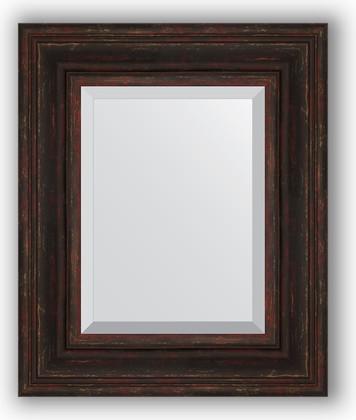 Зеркало с фацетом в багетной раме 49x59см темный прованс 99мм Evoform BY 3369
