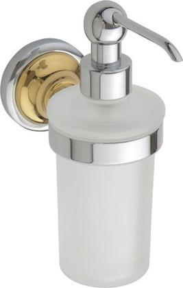 Дозатор жидкого мыла настенный, золото-хром, Bemeta 144209018