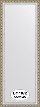Зеркало 55x145см в багетной раме бусы платиновые Evoform BY 1072