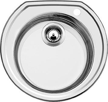 """Кухонная мойка без крыла, нержавеющая сталь """"декор"""" Blanco Rondoval 513314"""