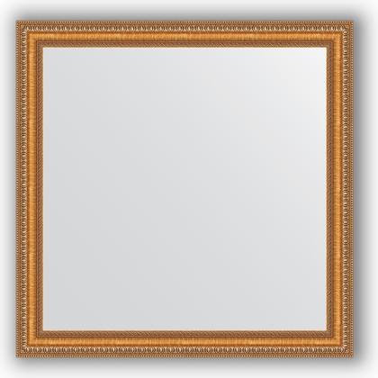 Зеркало в багетной раме 75x75см золотые бусы на бронзе 60мм Evoform BY 3234
