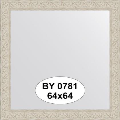 Зеркало 64x64см в багетной раме белёный дуб Evoform BY 0781