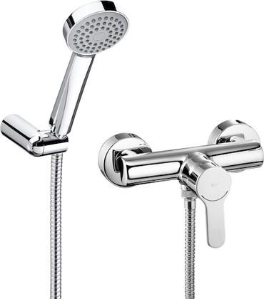 Смеситель однорычажный для ванны с душевым гарнитуром, хром Roca L20 5A2009C02