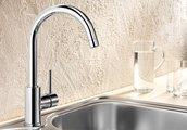 Смеситель кухонный однорычажный с высоким изливом, хром Blanco MIDA 517742