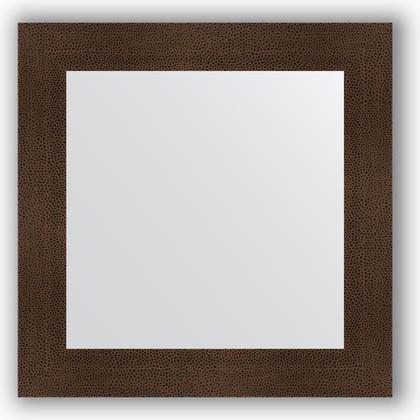 Зеркало в багетной раме 70x70см бронзовая лава 90мм Evoform BY 3152