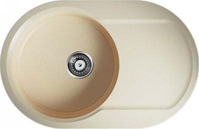 Кухонная мойка оборачиваемая с крылом, марципан Omoikiri Manmaru 78-MA 4993357