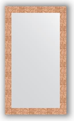 Зеркало в багетной раме 66x116см соты медь 70мм Evoform BY 3210