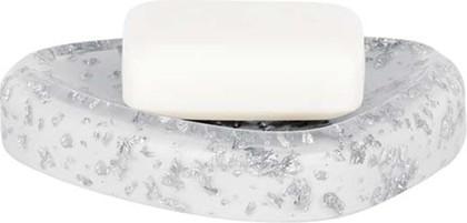 Мыльница белая Spirella Etna Glitter 1016525