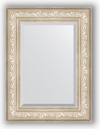 Зеркало с фацетом в багетной раме 60x80см виньетка серебро 109мм Evoform BY 3400