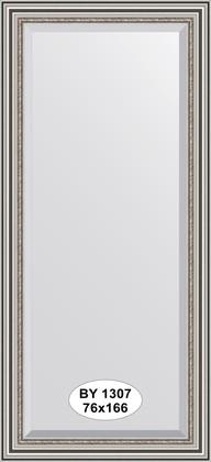 Зеркало 76x166см с фацетом 30мм в багетной раме римское серебро Evoform BY 1307