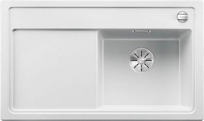 Кухонная мойка Blanco Zenar 45S-F, чаша справа, клапан-автомат, белый 523795