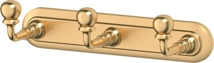 Вешалка для полотненец 3SC, с 3-мя крючками, матовое золото STI 302