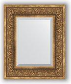 Зеркало Evoform Exclusive 490x590 с фацетом, в багетной раме 101мм, вензель бронзовый BY 3370