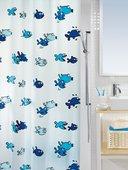 Штора для ванны 180x200см сине-голубая Spirella HUGO 1001951
