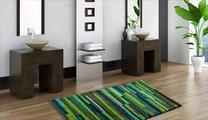 Коврик для ванной 60x60см зелёный пёстрый Grund Tara 3620.64.140