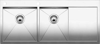 Кухонная мойка чаши слева, крыло справа, с клапаном-автоматом, нержавеющая сталь зеркальной полировки Blanco Zerox 8 S-IF/A 513760