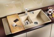 Кухонная мойка оборачиваемая с крылом, гранит, кофе Blanco Zia 6 S 515072