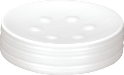Мыльница керамика, белый Kleine Wolke Sahara 5046100853