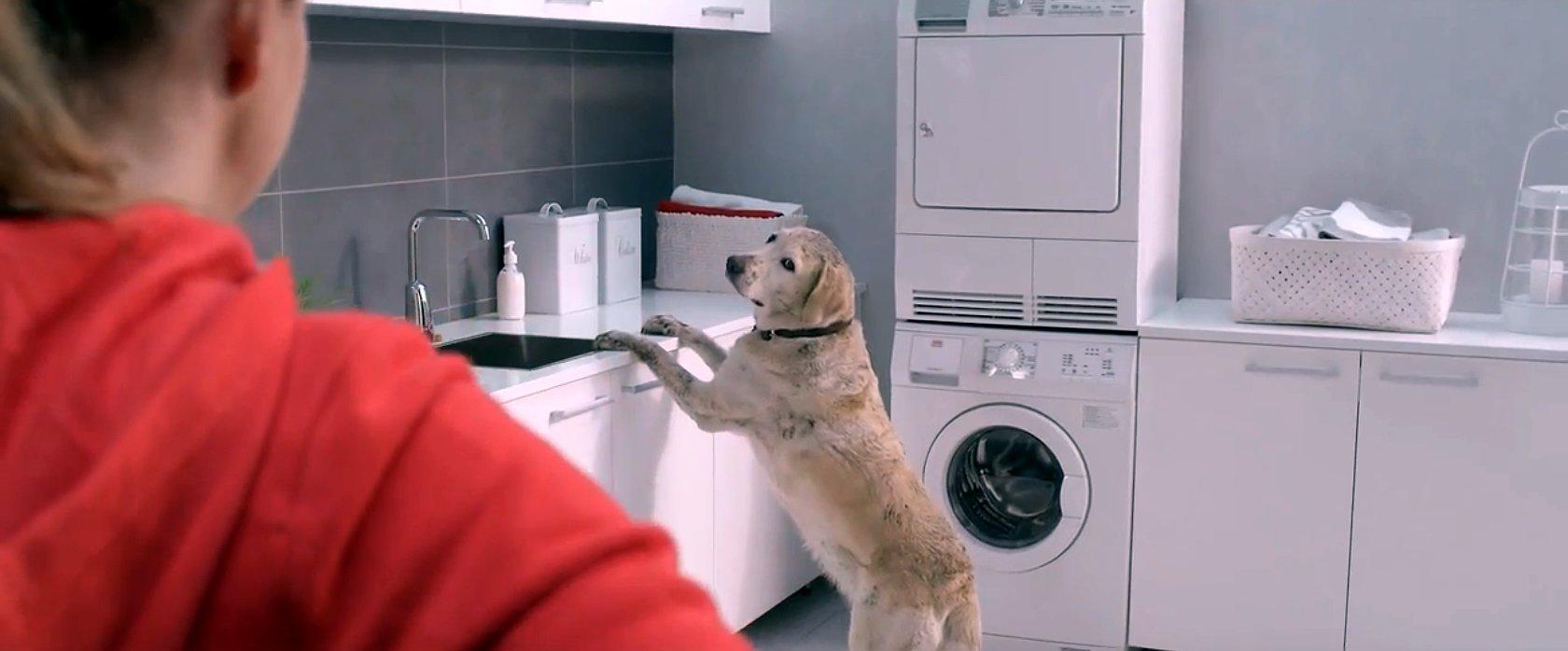 Кадр из серии рекламных роликов электронных смесителей Oras 2013-14 гг.