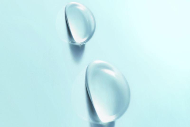 Капли воды на самоочищающемся покрытии Kaldewei easy-clean finish