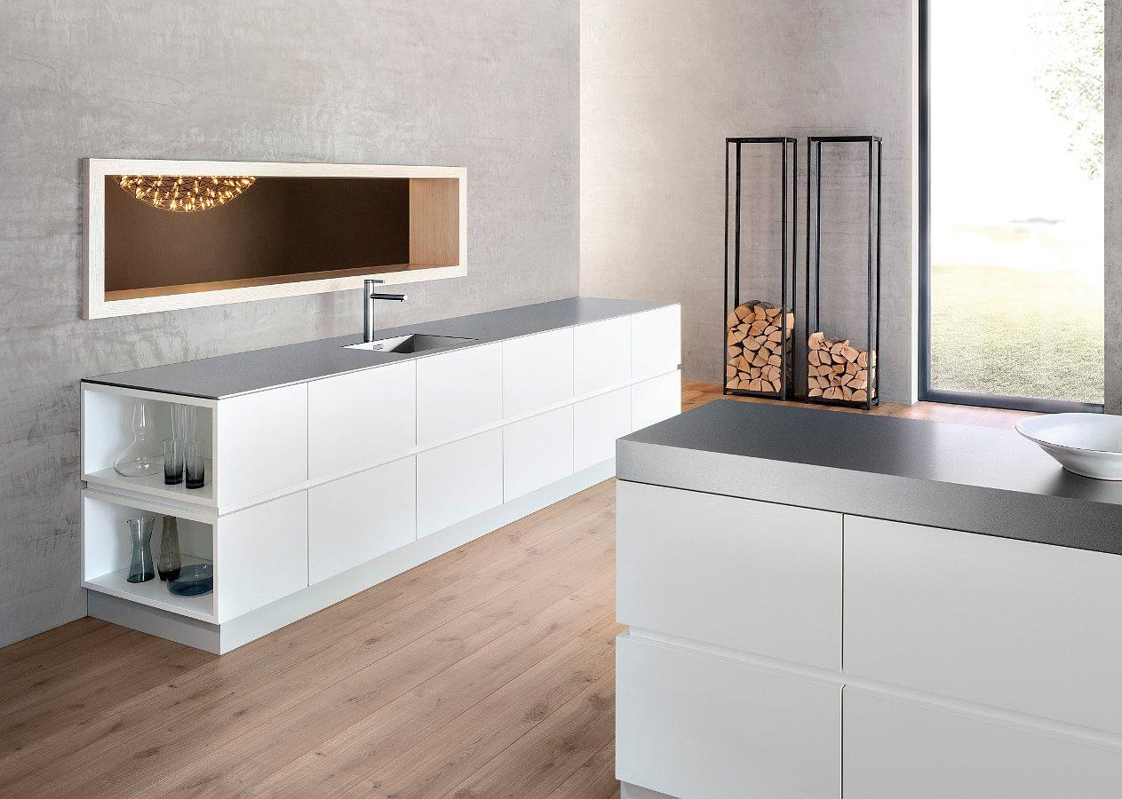 Столешница Blanco DURINOX с кухонной мойкой ZEROX и смесителем LINEE-S в интерьере