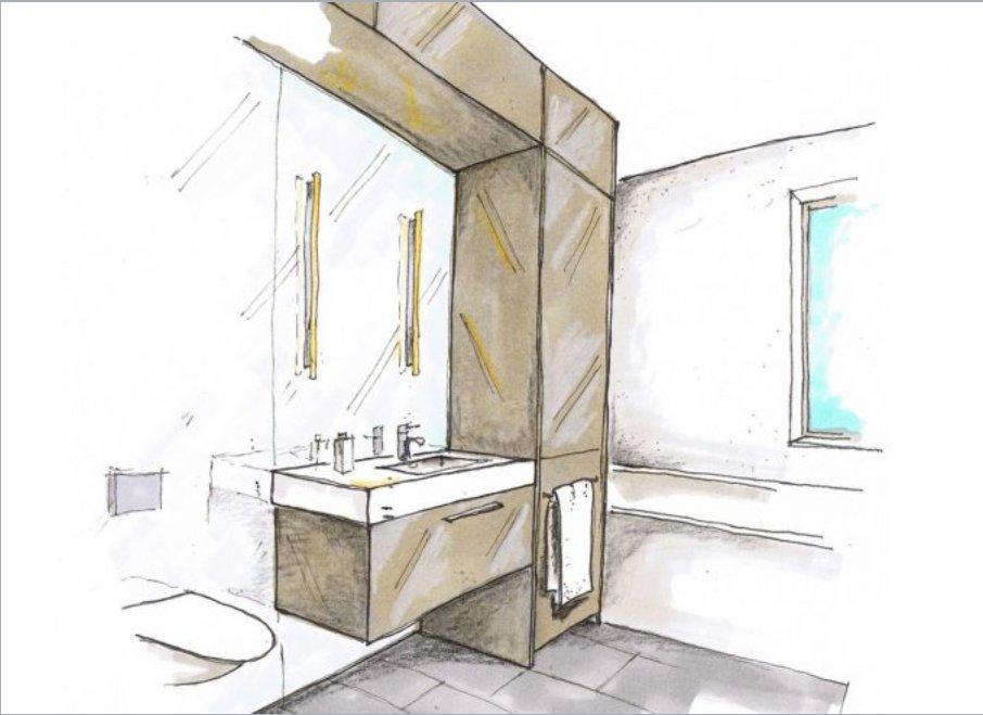 Как маленькие ванные комнаты могут выглядеть большими. Заказную мебель можно объединять с комнатой