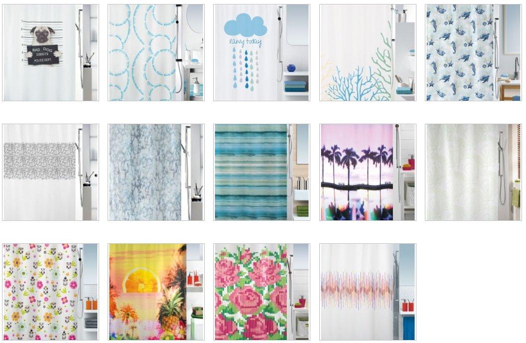 Текстильные (Polyester) шторки для ванной из числа новинок от Spirella 2016