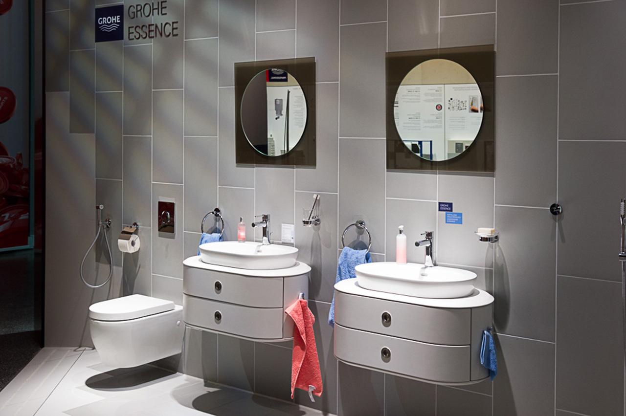 Смесители из коллекции ESSENCE от Grohe 2015 в ванной комнате