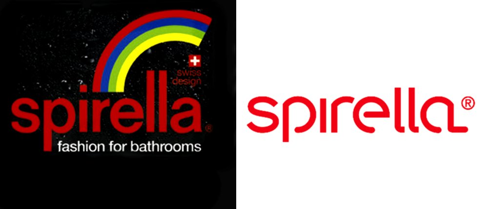 Логотипы Spirella до 2014 года (слева) и с 2014 года