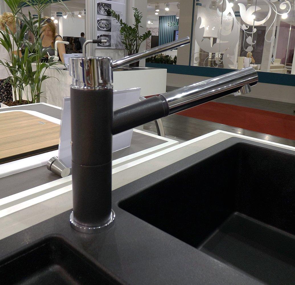 Кухонная мойка ADON XL 6S и смеситель ALTA-S Compact. Вид В